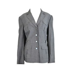 TAHARI ARTHUR S. LEVINE Gray Blazer Jacket